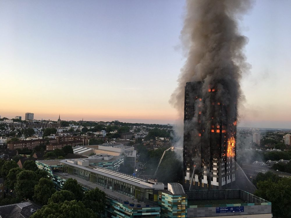 70 people died in 2017 when fire raged through Grenfell Tower in London in the worst residential fire in the UK since the Second World War due to the building's cladding.