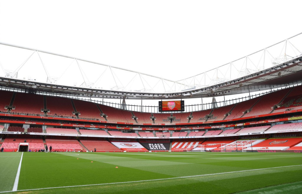 Arsenal v Tottenham Hotspur - Premier League. A view of the pitch before the Premier League match at Emirates Stadium, London. Picture date: Sunday, March 14, 2021. Copyright: Julian Finney