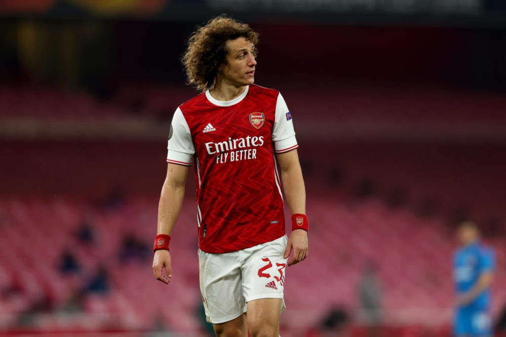 18th March 2021, Emirates Stadium, London, England UEFA Europa League Football, Arsenal versus Olympiacos - David Luiz of Arsenal Photo: Shaun Brooks