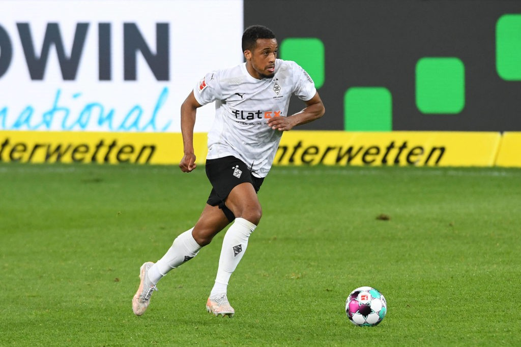 TSG 1899 Hoffenheim - Borussia Mönchengladbach on 21.04.2021 in the PreZero Arena in Sinsheim. Alassane Plea of Mönchengladbach (Photo via Imago Images)
