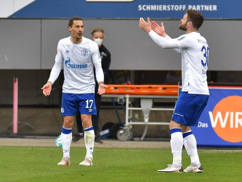 Bundesliga, SC Freiburg FC Schalke 04 emspor, v l Benjamin Stambouli FC Schalke 04 , Shkodran Mustafi FC Schalke 04 , disappointed, disappointed looking, disappointed