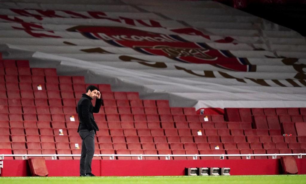 Arsenal v Villarreal - UEFA Europa League - Semi Final - Second Leg - Emirates Stadium Arsenal manager Mikel Arteta reacts during the UEFA Europa League Semi Final at the Emirates Stadium, London. Picture date: Thursday May 6, 2021.Copyright: John Walton