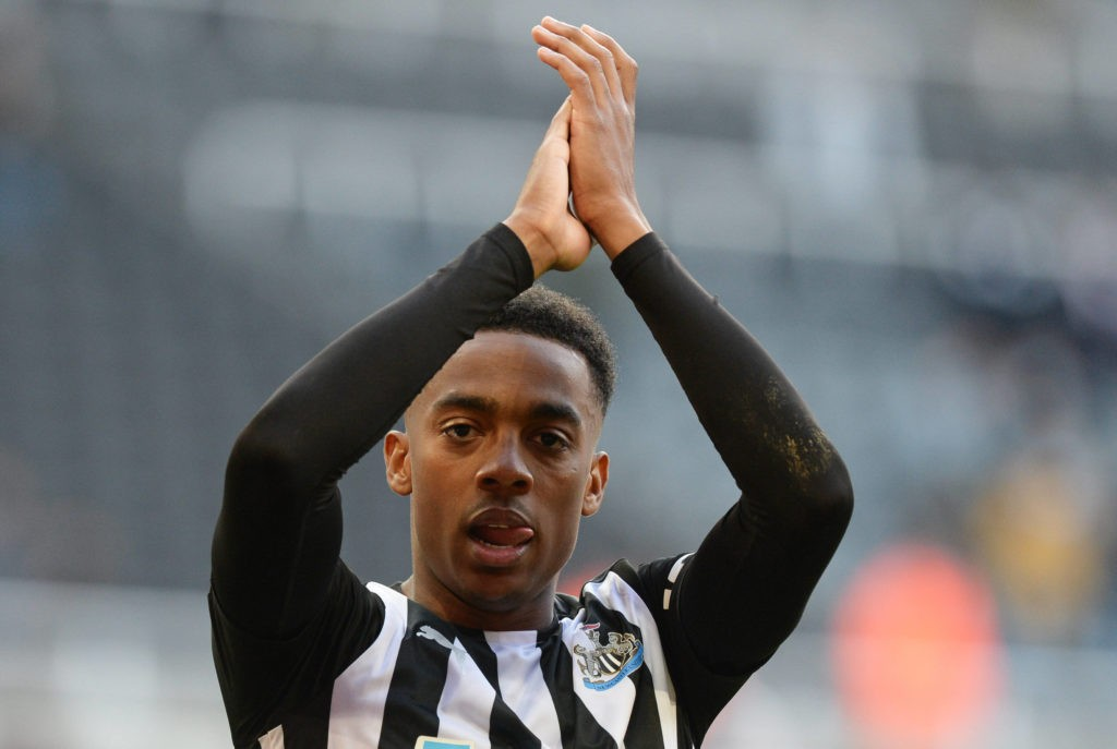 Joe Willock of Newcastle United acknowledges the fans after the full-time whistle - Newcastle United v Sheffield United, Premier League, Football, St James Park, Newcastle, UK - 19 May 2021. Copyright: Richard Lee / BPI / Shutterstock