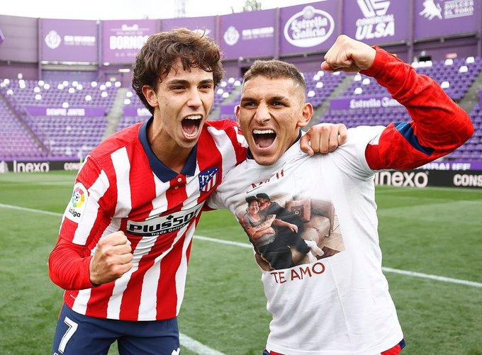 Lucas Torreira celebrates winning La Liga (Photo via Torreira on Instagram)