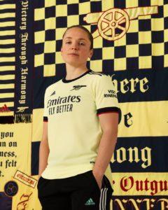 arsenal away shirt 2021-22 little