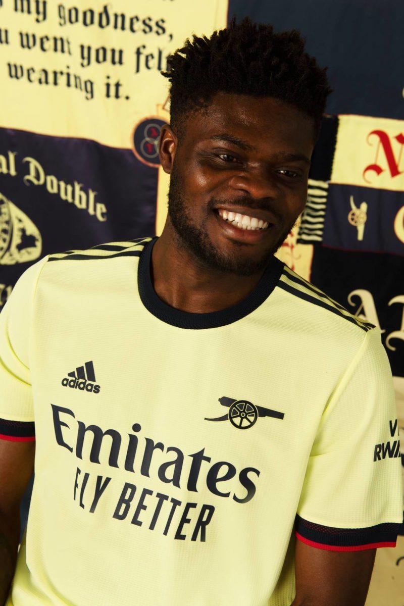 arsenal away shirt 2021-22 partey