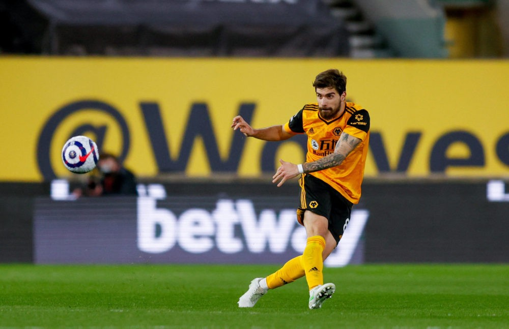 Wolverhampton Wanderers midfielder Ruben Neves during the Premier League match between Wolverhampton Wanderers and West Ham United at Molineux, Wolverhampton, England on 5 April 2021. Copyright: Simon Davies
