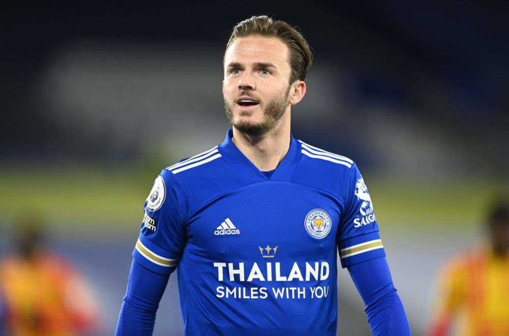 Leicester City's James Maddison reacts during the Premier League match at the King Power Stadium, Leicester. Issue date: Thursday, May 6, 2021. Copyright: Michael Regan