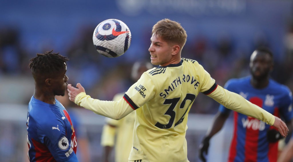 Emile Smith Rowe in action during the Premier League match at Selhurst Park, London. Picture date: Wednesday May 19, 2021. Copyright: Frank Augstein