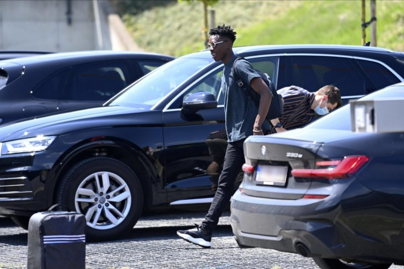 Albert Sambi Lokonga midfielder of Belgium pictured during arrival at the Belgian National Football Center Base Camp prior to the friendly games against Greece and Croatia before the 16th UEFA 2020 European Football Championship on May 31, 2021 in Tubize, Belgium, 31/05/2021 FOOTBALL : Belgique Activites Media EURO2020 - 31/05/2021 Photonews/Panoramic
