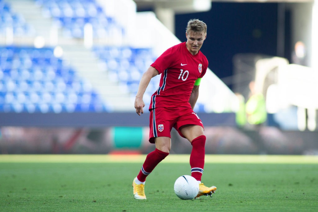 MALAGA, SPAIN: Martin Odegaard of Norway during the International Friendly match between Norway and Greece at La Rosaleda Stadium on June 6, 2021, in Malaga, Spain. Copyright: Joaquin Corchero