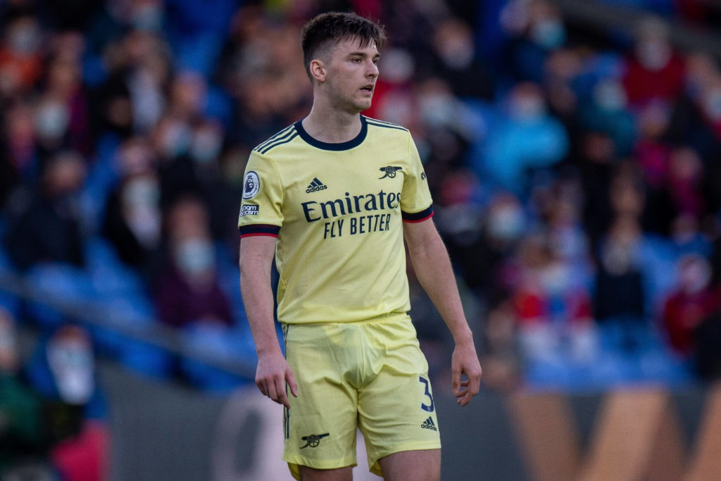 Kieran Tierney of Arsenal during the Premier League match between Crystal Palace and Arsenal at Selhurst Park on May 19, 2021 Crystal Palace v Arsenal - Premier League Copyright: Sebastian Frej