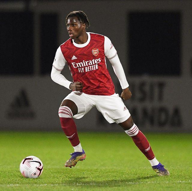 Daniel Oyegoke with Arsenal (Photo via Oyegoke on Instagram)