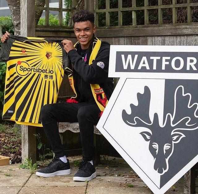 Aaron Benn after joining Watford (Photo via Benn on Instagram)