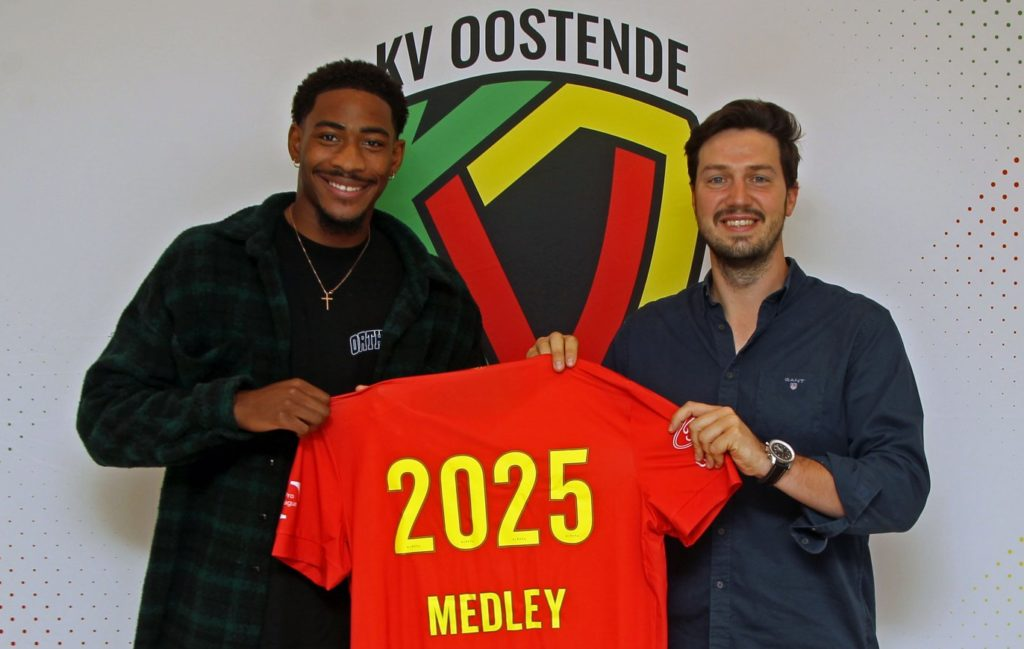 Zech Medley after joining KV Oostende (Photo via KVO.be)