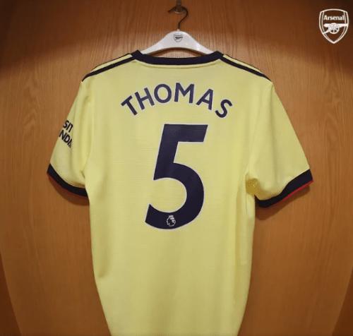 Thomas Partey new shirt number
