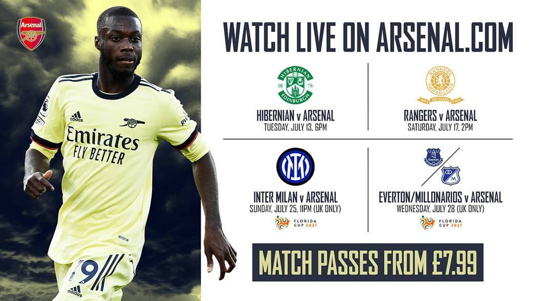 Where can I watch Arsenals pre-season games?