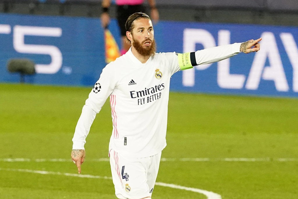 Real Madrid's Sergio Ramos during UEFA Champions League Round of 16 2nd leg match. March 16, 2021. (Photo via Imago Images)