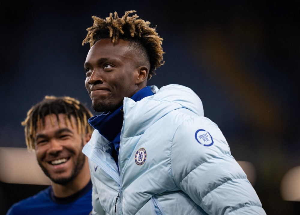 Tammy Abraham & Reece James of Chelsea during the Premier League match between Chelsea and Leicester City at Stamford Bridge, London, England on 18 May 2021. Copyright: Andy Rowland