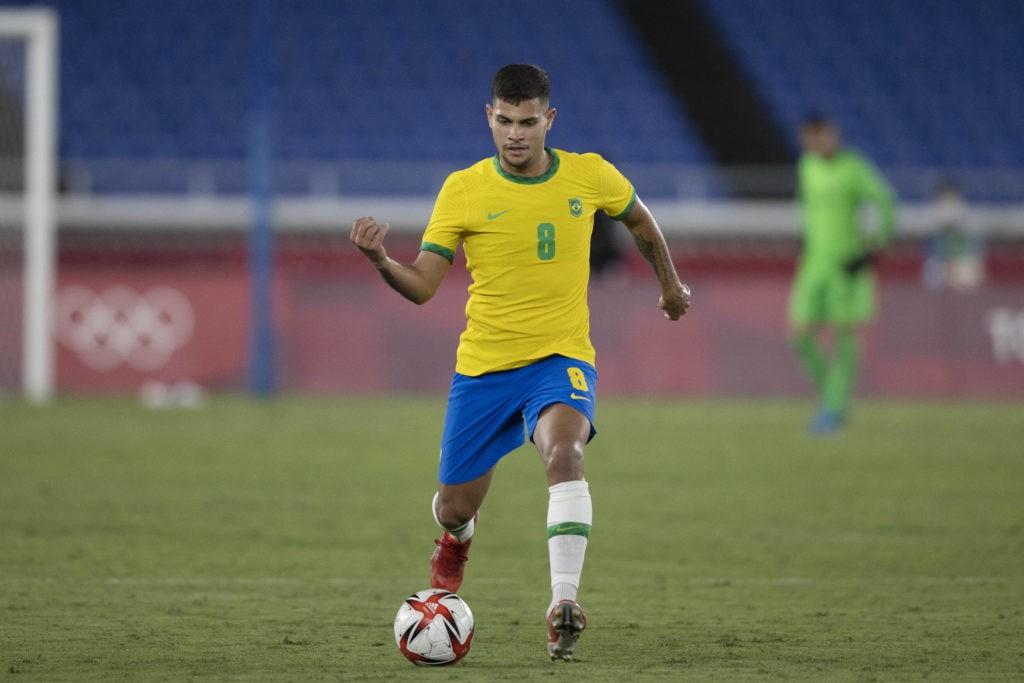 22nd July 2021 - Stadium Yokohama, Yokohama, Japan, Tokyo - 2020 Olympic Games, Brazil versus Germany Bruno Guimaraes of Brazil. Lucas Figueiredo / CBF