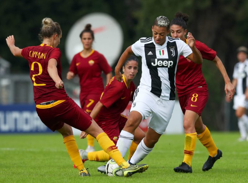 Lianne Joan Sanderson of Juventus in action at Tre Fontane Stadium in Rome, Italy on October 21, 2018. AS Roma v Juventus - Serie A Women Copyright: Matteo Ciambelli