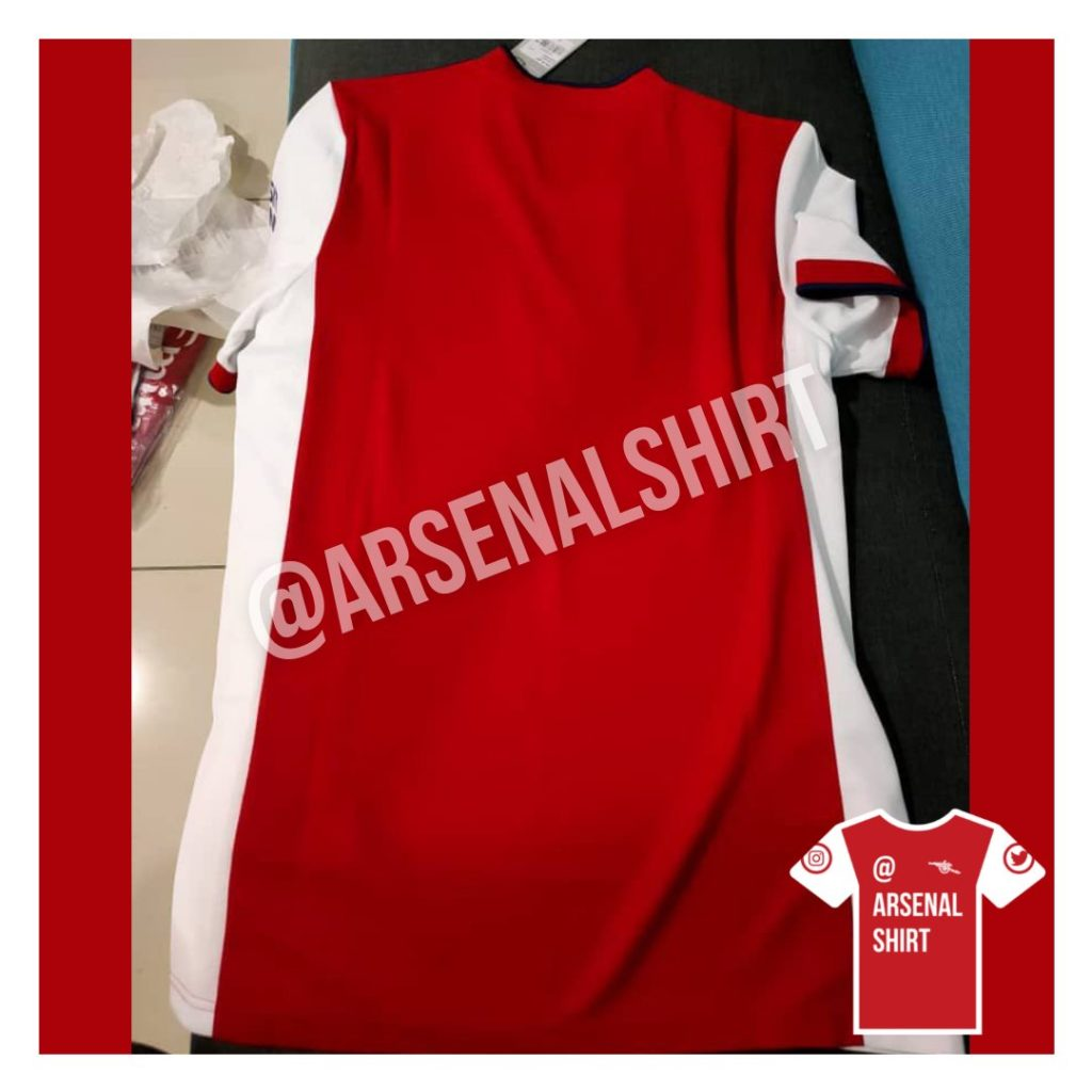 Arsenal 2021/22 Adidas Home Kit (Photo via ArsenalShirt on Twitter)