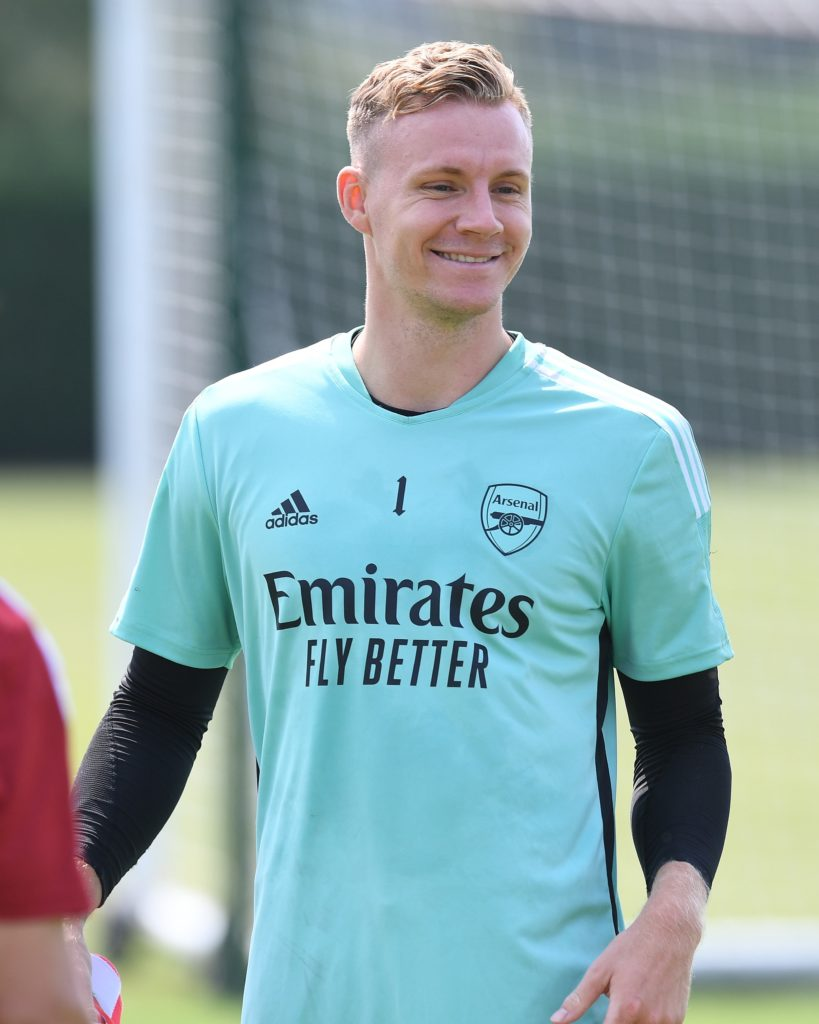 Bernd Leno in training with Arsenal (Photo via Arsenal on Twitter)