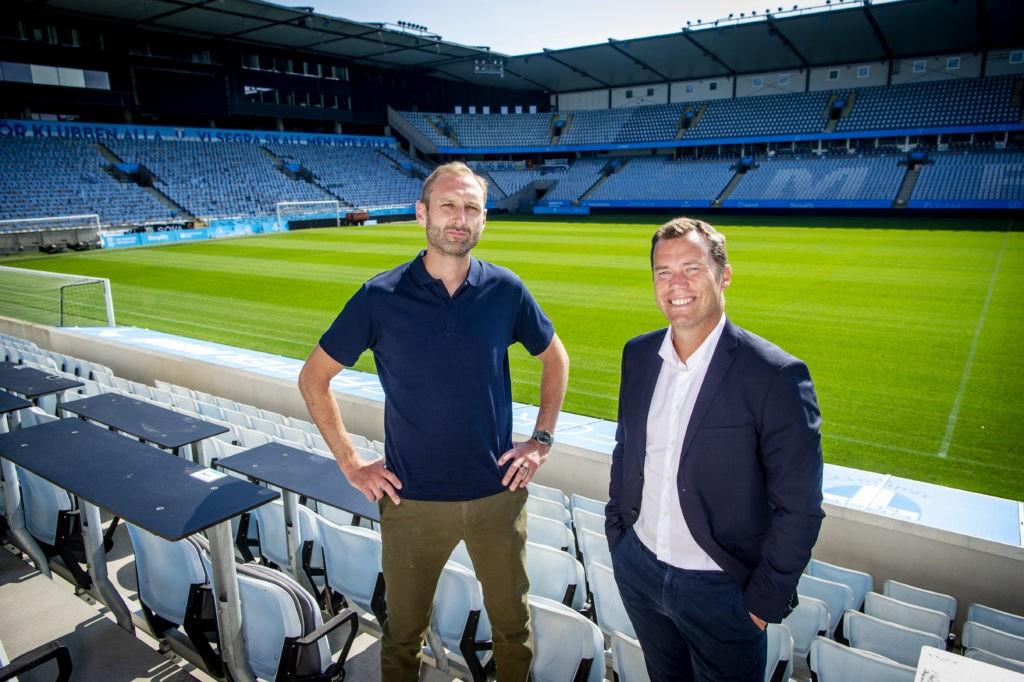 Andreas Georgson (L) and Daniel Andersson with Malmo (Photo via mff.se)