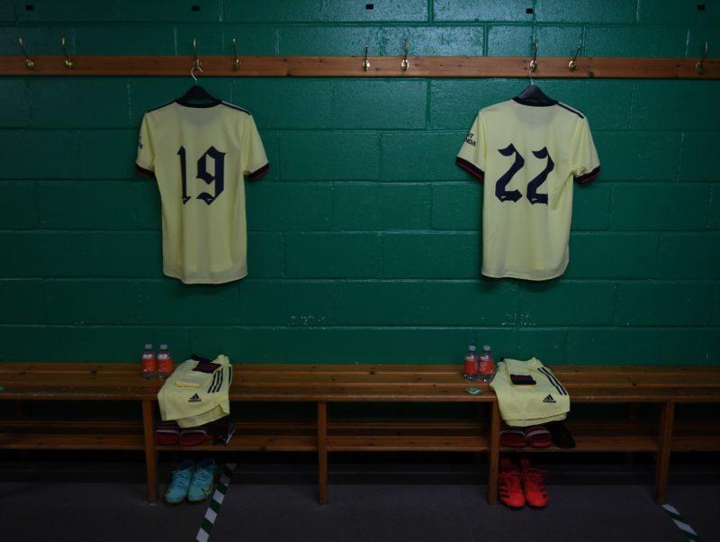 Hibs vs Arsenal dressing room via @Arsenal