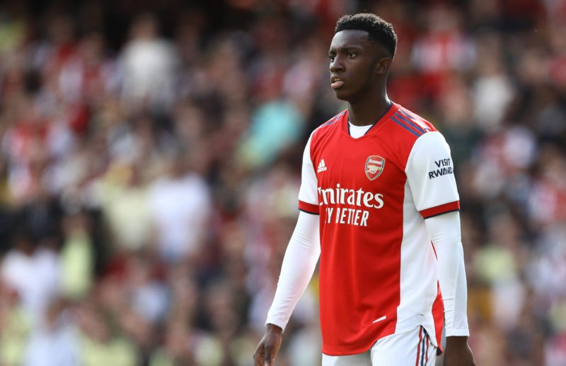 London, England, 1st August 2021. Eddie Nketiah of Arsenal during the Pre Season Friendly match at the Emirates Stadium, London. Picture credit should read: Paul Terry / Sportimage SPI-1111-0117