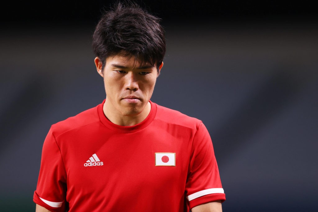 Takehiro Tomiyasu JPN, AUGUST 6, 2021 - Football/Soccer : Men s 3rd Place Match match between Mexico 3-1 Japan during the Tokyo 2020 Olympic Games, Olympische Spiele, Olympia, OS at the Saitama Stadium in Saitama, Japan.