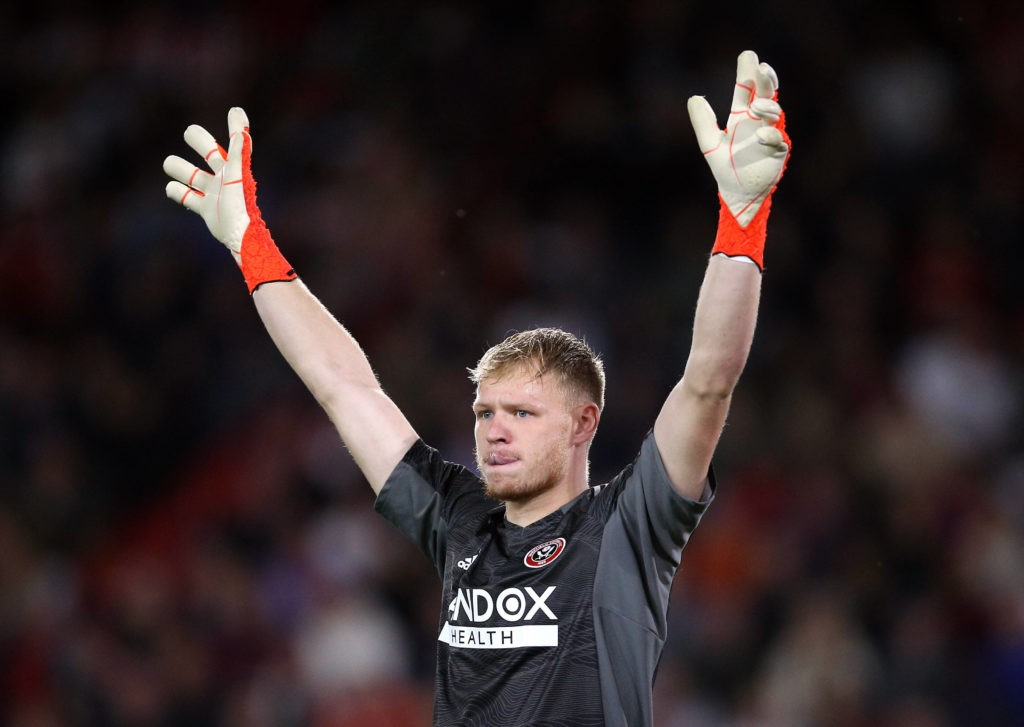 Sheffield United v Birmingham City - Sky Bet Championship - Bramall Lane Sheffield United goalkeeper Aaron Ramsdale during the Sky Bet Championship match at Bramall Lane, Sheffield. Picture date: Saturday August 7, 2021. Copyright: Nigel French