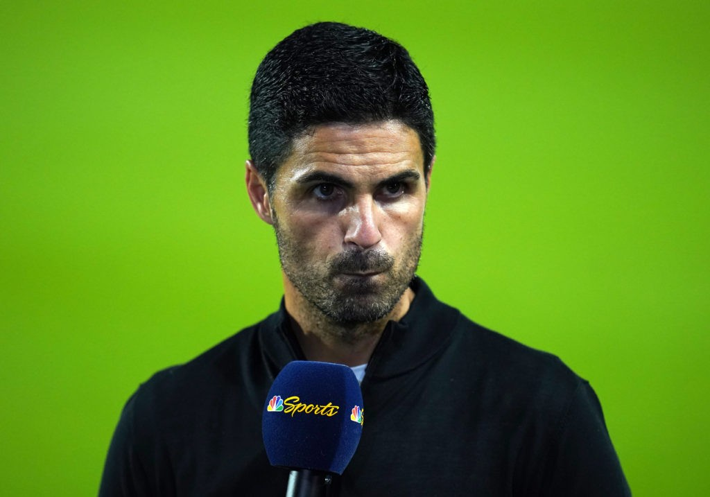 Brentford v Arsenal - Premier League - Brentford Community Stadium Arsenal manager Mikel Arteta reacts after the final whistle during the Premier League match at the Brentford Community Stadium, London. Picture date: Friday August 13, 2021.