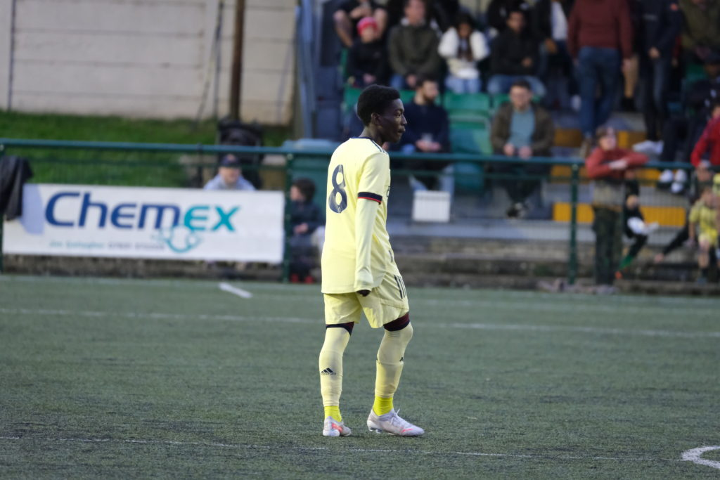 Amario Cozier-Duberry with the Arsenal u18s (Photo by Dan Critchlow)