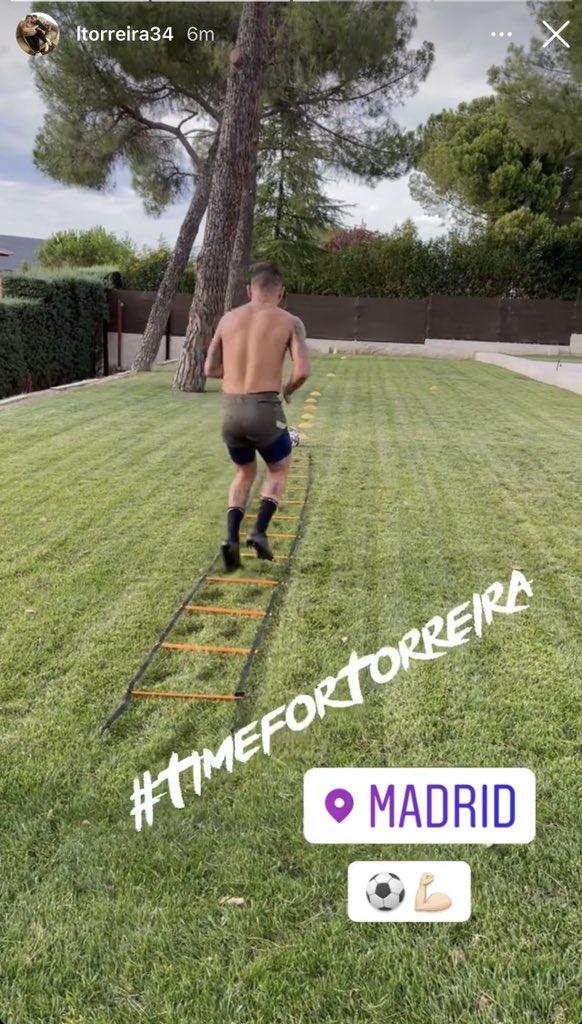 Lucas Torreira in Madrid (Photo via Torreira on Instagram)