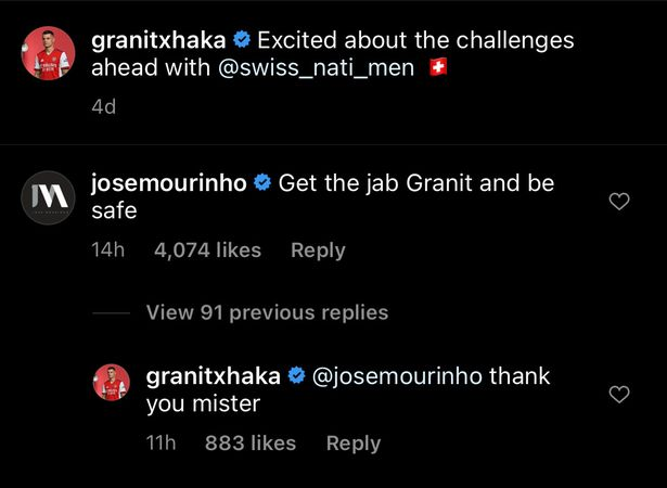Granit Xhaka via Instagram