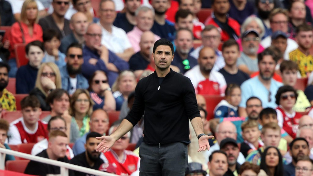 Mikel Arteta Arsenal head coach at the EPL match Arsenal v Norwich City, at the Emirates Stadium, London, UK on 11th September, 2021.