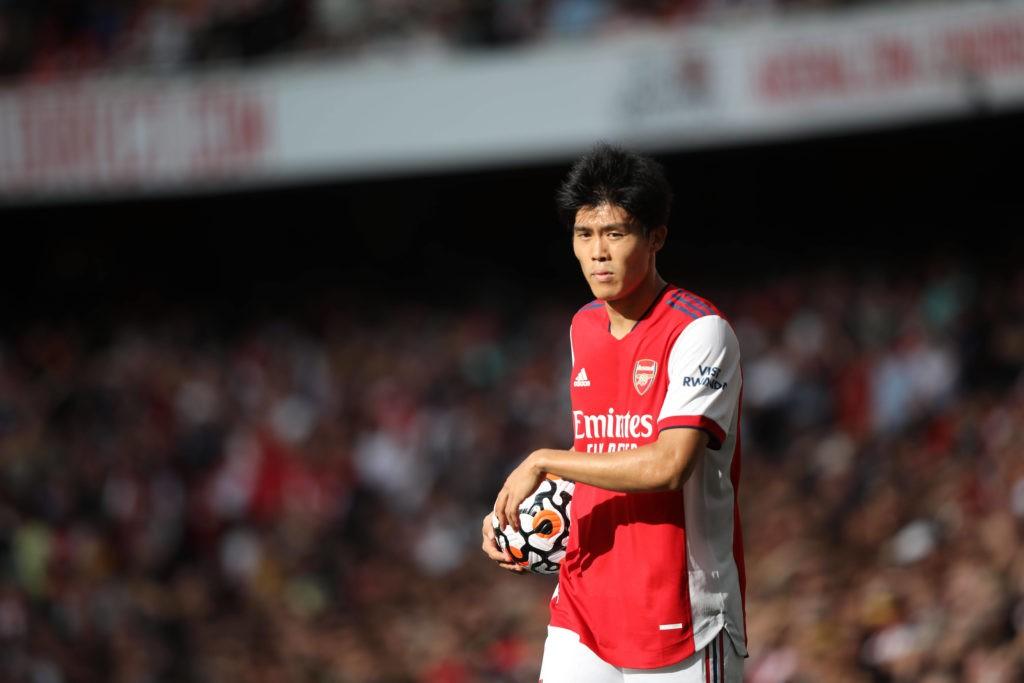Takehiro Tomiyasu A at the EPL match Arsenal v Norwich City, at the Emirates Stadium, London, UK on 11th September, 2021.
