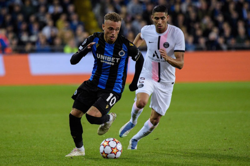 Noa LANG 10 - Brugge - Achraf Hakimi 2 - PSG - FOOTBALL : Brugge vs Paris Saint Germain - Ligue des Champions - Paris - 15/09/2021 FedericoPestellini/Panoramic