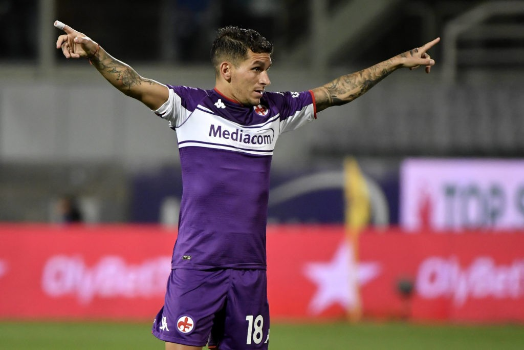 Lucas Torreira of ACF Fiorentina reacts during the Serie A 2021/2022 football match between ACF Fiorentina and FC Internazionale at Artemio Franchi stadium in Florence Italy, September 21st, 2021. Photo Andrea Staccioli / Insidefoto