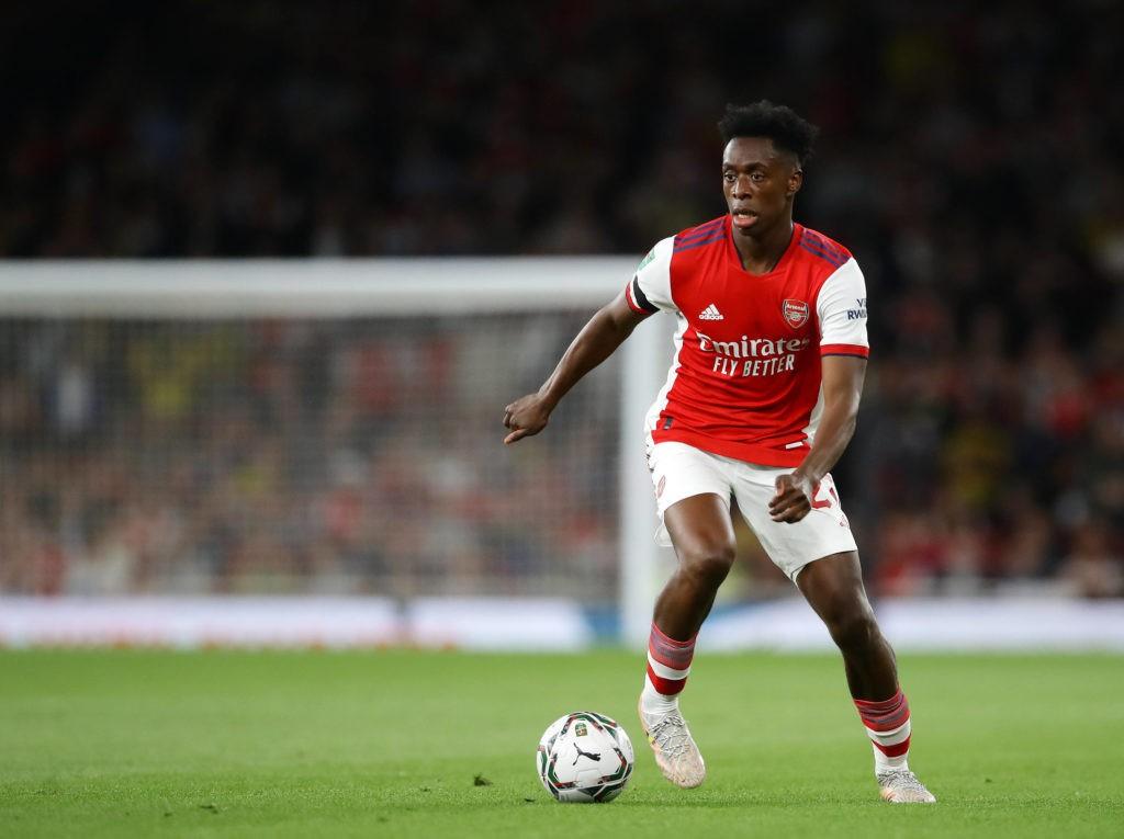 London, England, 22nd September 2021. Albert Sambi Lokonga of Arsenal during the Carabao Cup match at the Emirates Stadium, London. Picture credit should read: David Klein / Sportimage SPI-1207-0050