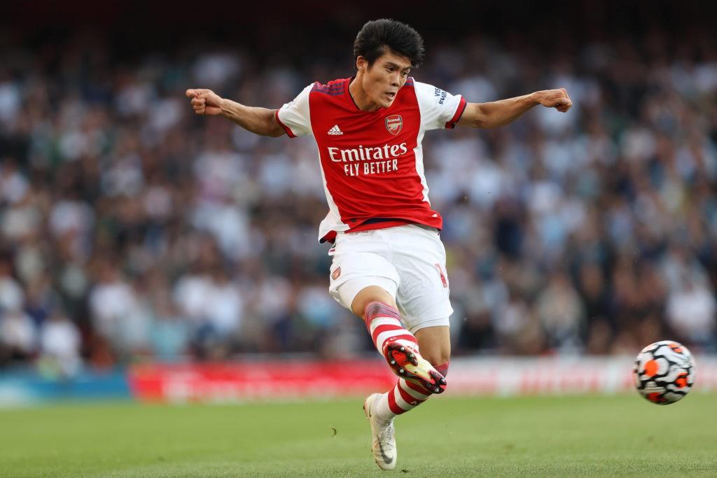 Arsenal v Tottenham Hotspur - Takehiro Tomiyasu of Arsenal - Photo: Charlotte Wilson / Offside. September 2021