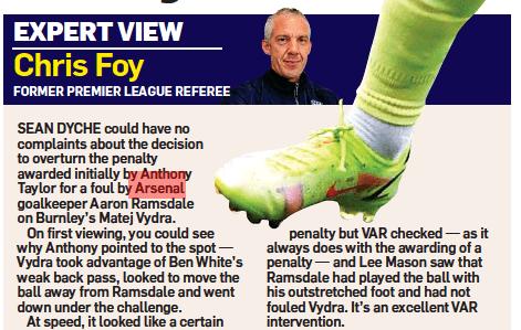 Chrisy Foy Burnely penalty