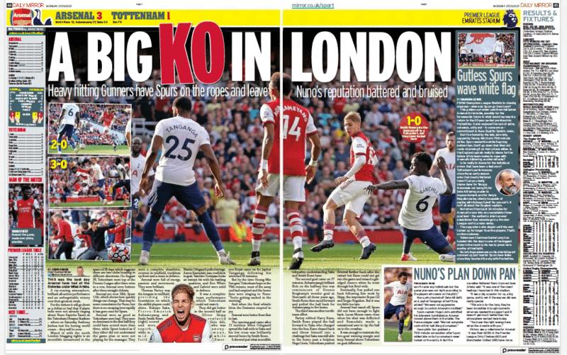 Daily Mirror, 27 September 2021