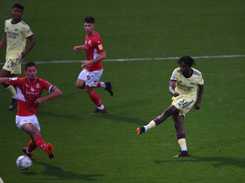 Swindon vs Arsenal via Arsenal Academy on Twitter