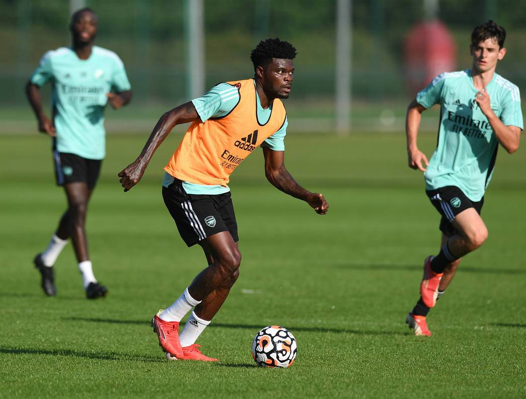 Thomas Partey in full training via Arsenal.com