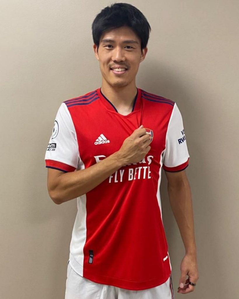 Takehiro Tomiyasu with Arsenal (Photo via Arsenal on Twitter)