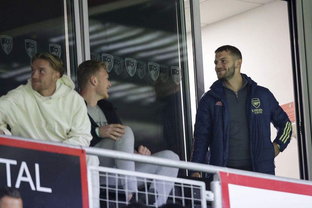 Jack Wilshere at Arsenal's u23 game against Bournemouth (Photo via Chris Wheatley on Twitter)